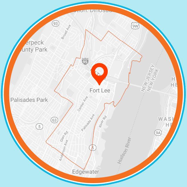 Fort Lee, NJ Map